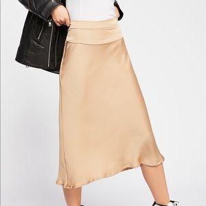 Free People Silky Skirt